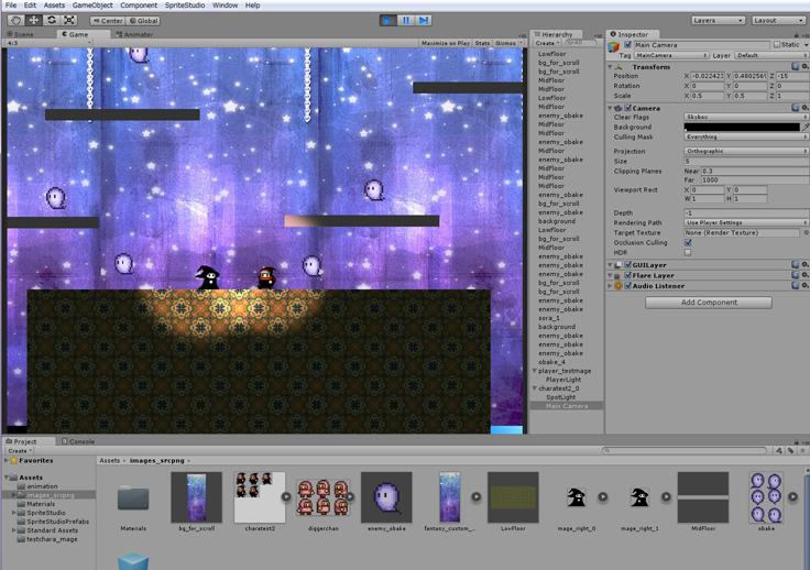 Ayano(メディックP)が作りかけてるゲームのたたき台ってかんじの画面